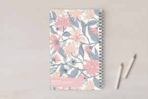 notebook blue back